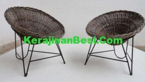 iron furniture with natural rattan