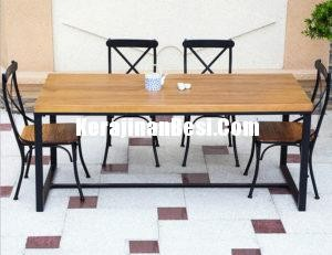 American iron dining chairs