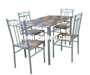 kursi makan set metal furniture