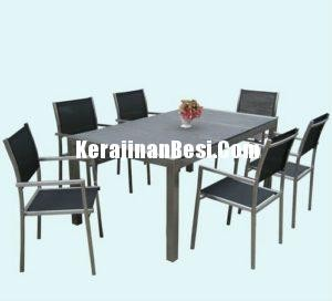 kursi set table bahan metal