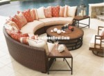 Mallin Outdoor Furniture Rotan kombinasi Sofa Sets Untuk Villa