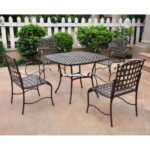 Melano table wrought iron furniture garden