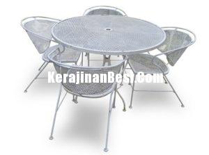 Iron dining chair set for hotel bali